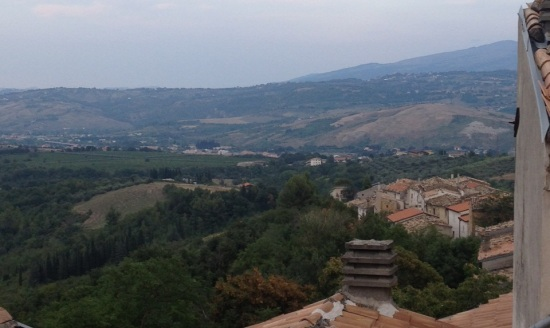 The sprawling valley toward the Adriatic